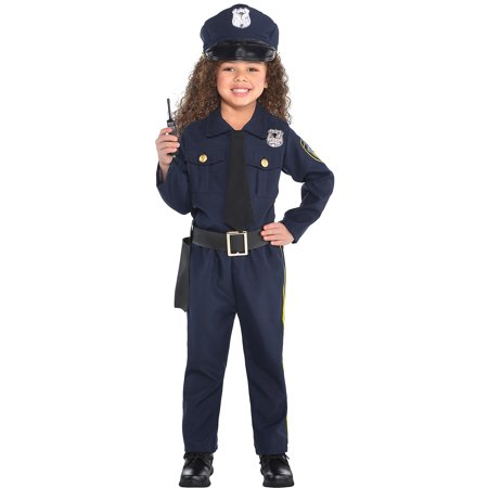 Girls Police Officer Halloween Costume (Amscan Classic Police Officer Halloween Costume for Girls, Medium, with)