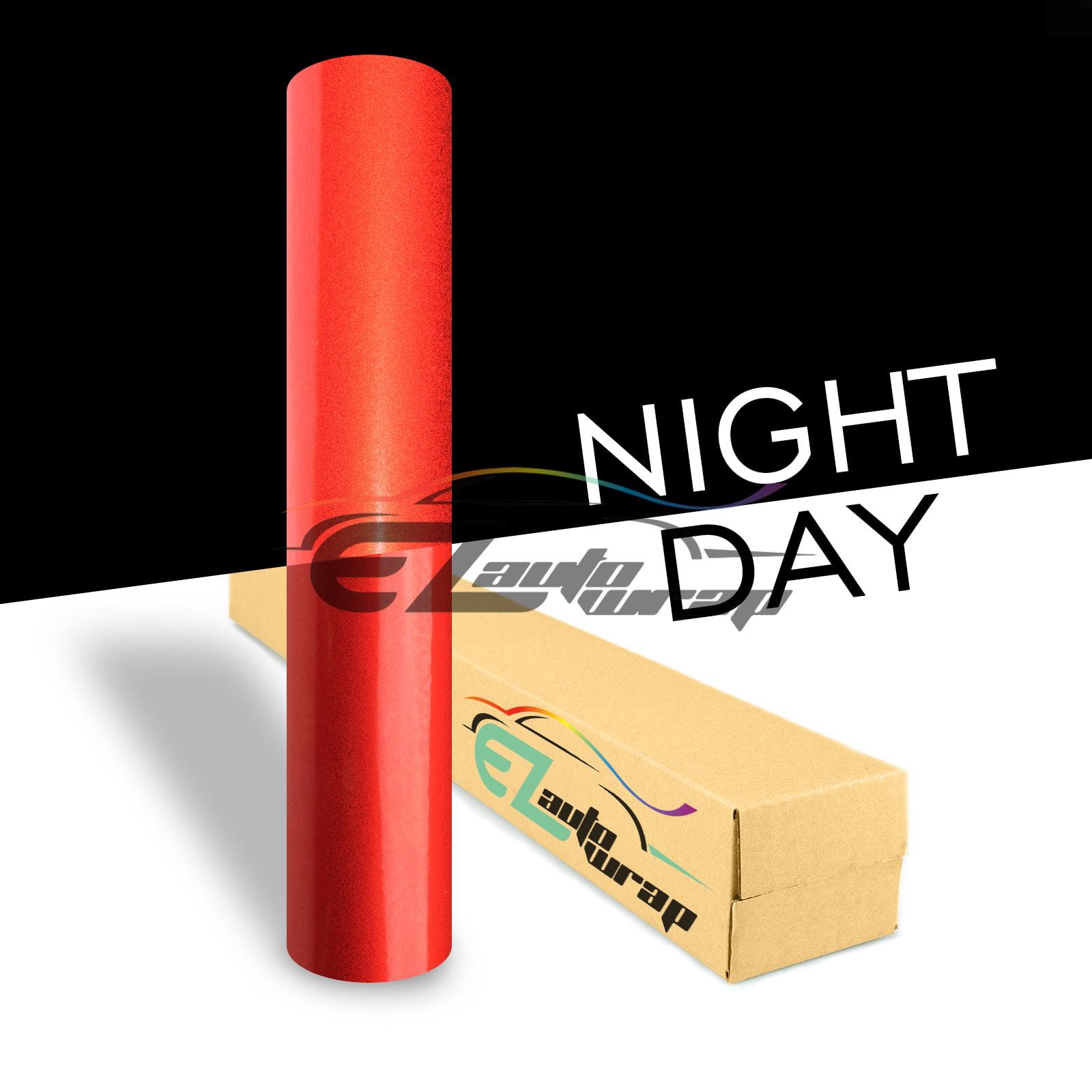 EZAUTOWRAP Red Night Reflective Vinyl Wrap Sticker Decal ...