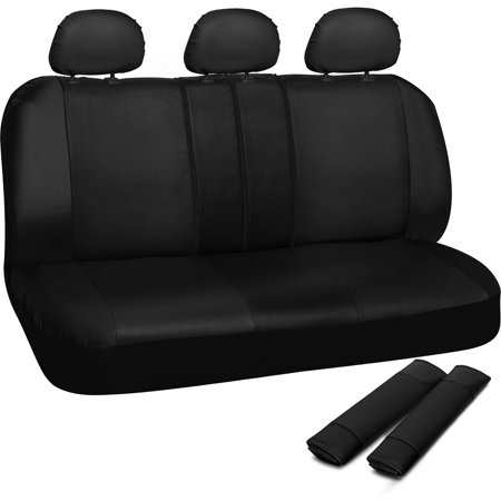 OxGord Faux Leather Rear Bench Seat Covers Universal Fit For Car Truck SUV Van 50