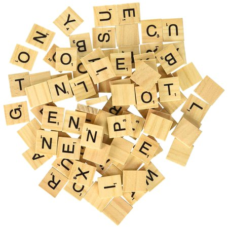 5 Sets of 100 Letters - Replacement Tiles for Scrable Board Game and Crafts - Halloween Letter Recognition Games