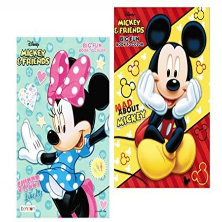 Disney® Mickey and Minnie Mouse Coloring Book Set with Tear and Share Pages