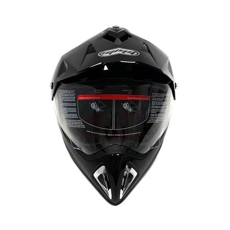 Helmet Dual Sport Off Road Motorcycle Dirt Bike ATV - FlipUp Visor - 27V (L, Shiny