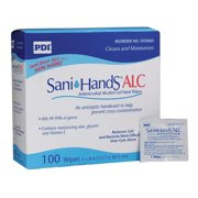 PDI Antimicrobial Hand Sanitizing Wipes, 5 x 8
