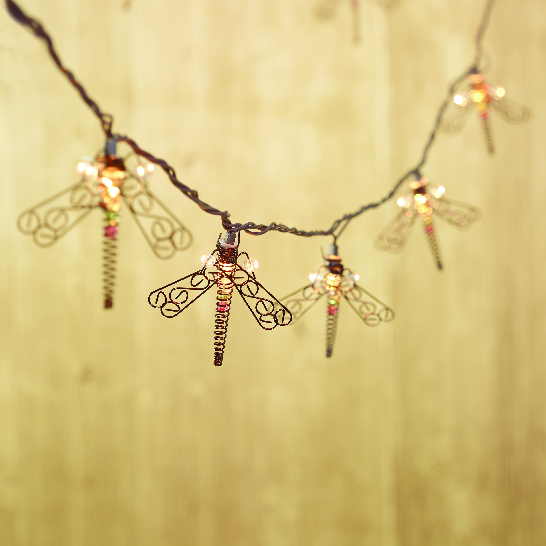 10ct String to String Metal Dragonfly Light Set - Walmart.com