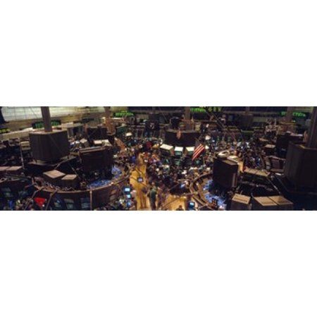 Stock Exchange NYC New York City New York State USA Canvas Art - Panoramic Images (18 x