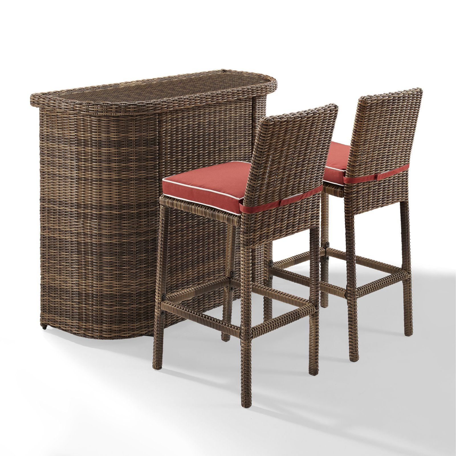 Macys Furniture Outlet Bradenton: Crosley Furniture Bradenton 3 Piece Outdoor Wicker Bar Set