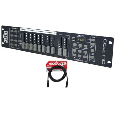 Chauvet OBEY10 DMX 512 2U Light Controller OBEY 10 +FREE 10' Foot DMX Cable