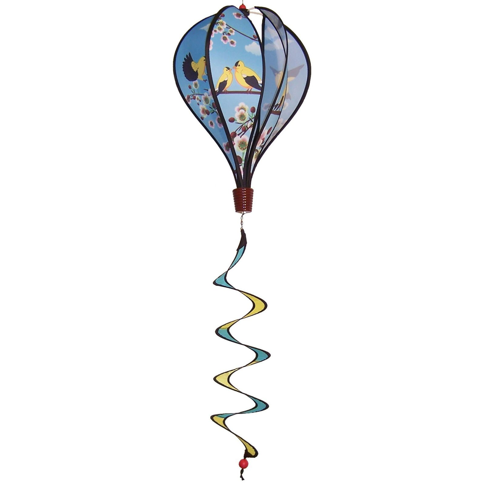In the Breeze Goldfinch Family Hot Air Balloon Wind Spinner by Gold Crest Distributing LLC