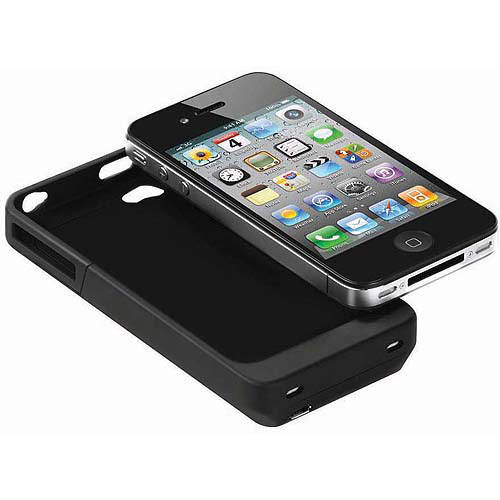 iPower Cell Phone Battery Case for Apple iPhone 4/4S, Black
