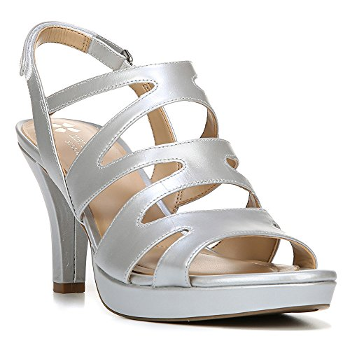 Naturalizer Pressley Silver Strappy Womens Sandals Size 7 by Naturalizer