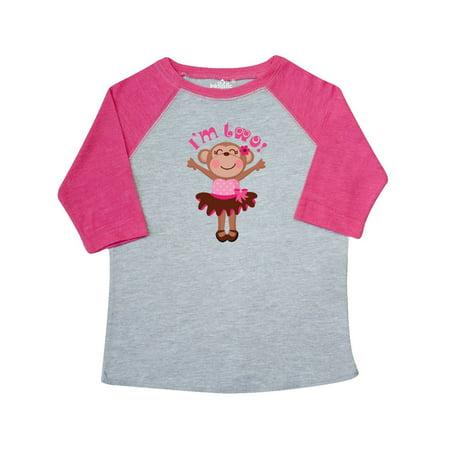 Monkey 2nd Birthday Gift For Girl Toddler T-Shirt