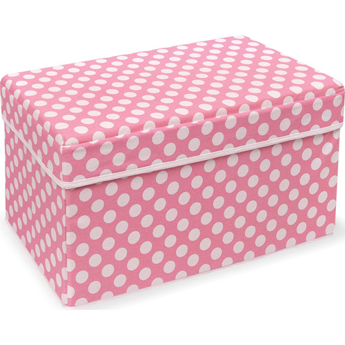 Badger Basket Polka Dot Double Folding Storage Seat (Your Choice in Color)