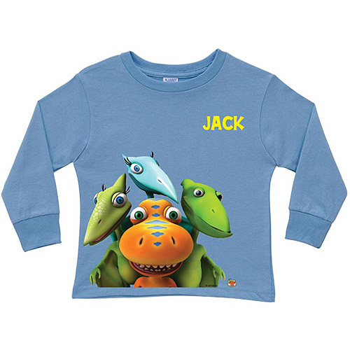 Personalized Dinosaur Train Group Blue Toddler Boy Long Sleeve Tee