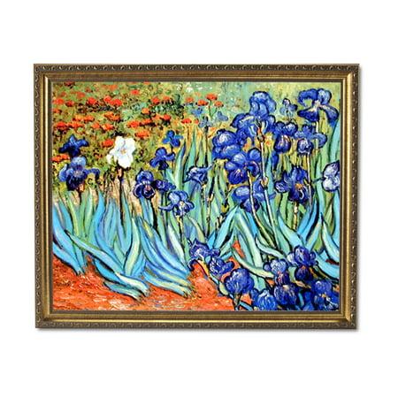 Vincent Van Gogh Flower Les Irises Wall Picture Gold Framed Art - Irish Frame