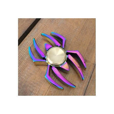 New Colorful Rainbow Spider Edc Fidget Spinner Metal Finger Toy Hand Spinner For Adhd Relieve Anxiety Desk Toys Kids Gift 97Zdcp0231