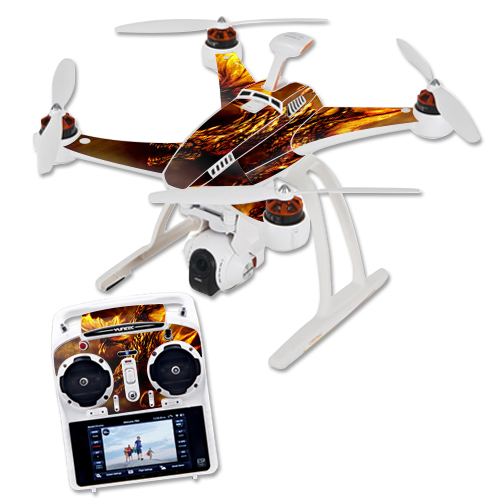 Skin Decal Wrap for Blade Chroma Quadcopter Drone Golden Dragon