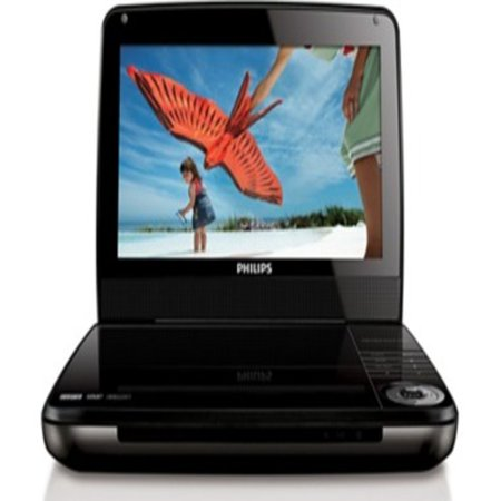 Philips 9″ Portable DVD Player -Black -REFURBISHED