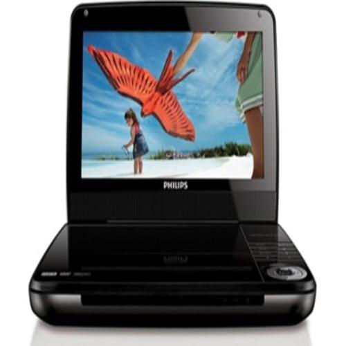 "Philips 9"" Portable DVD Player -Black -REFURBISHED"