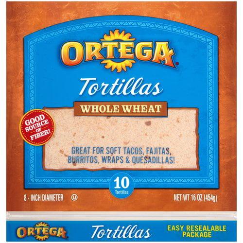 Ortega Whole Wheat Tortillas, 10 count, 16 oz
