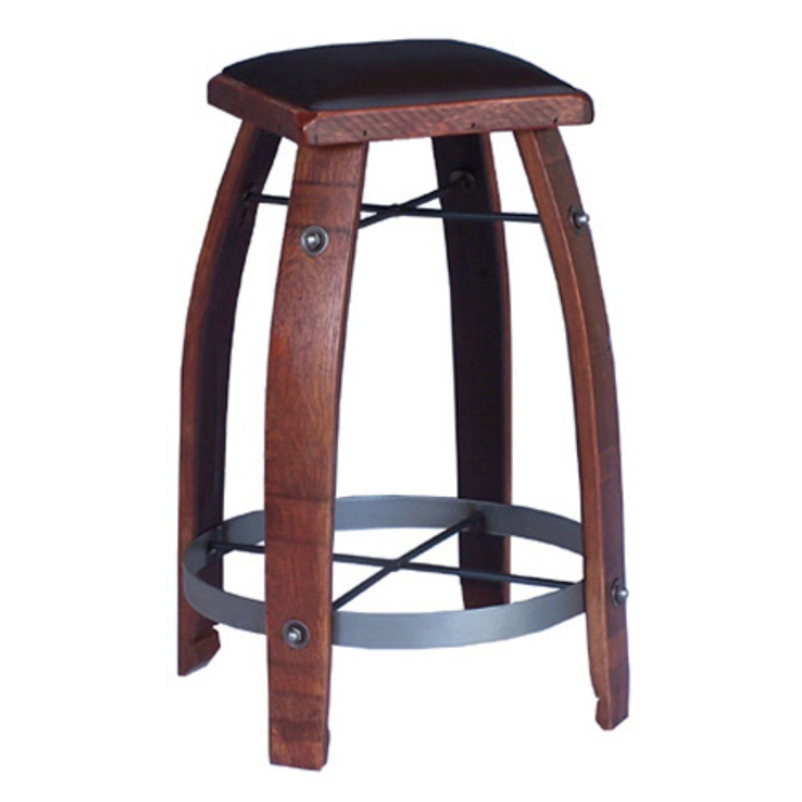 2 Day Designs Reclaimed 30 in. Stave Wine Barrel Bar Stool