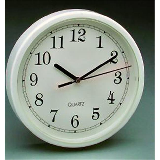 Equity Time USA 25011 WHT 8.5 Inch Wall Clock