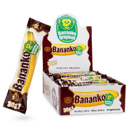Bananko, CASE, 30gx36, Chocolate Covered Banana Flavored Dessert