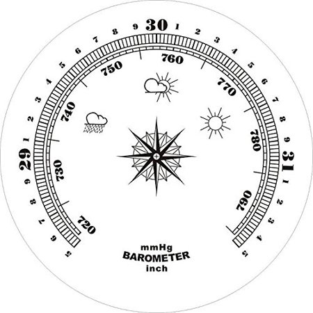 Ambient Weather WS-YG313-Y Cherry Finish Brass Bezel Traditional Weather Station
