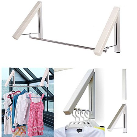 Kk5 Clothes Hanger Folding Retractable Clothes Racks Wall