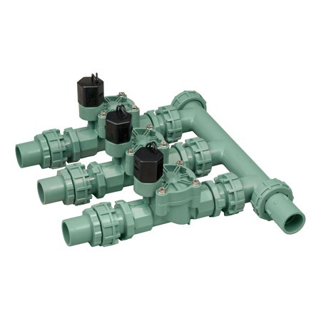 - Orbit 57253 3-Valve Heavy Duty Preassembled Manifold