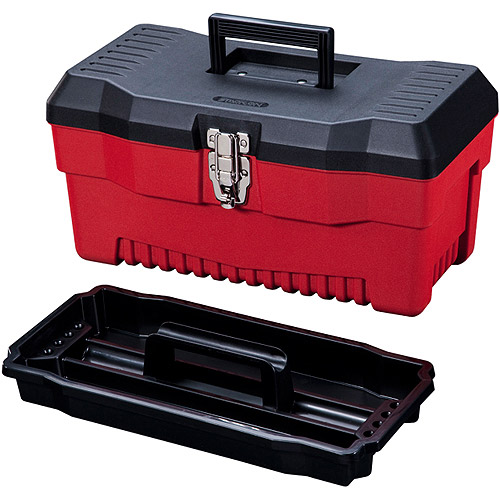 """Stack-On 16"""" Professional Tool Box, Red"""