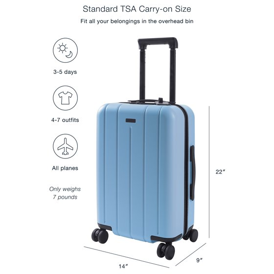 Chester Luggage Hardside Carry On Spinner Suitcase, 22