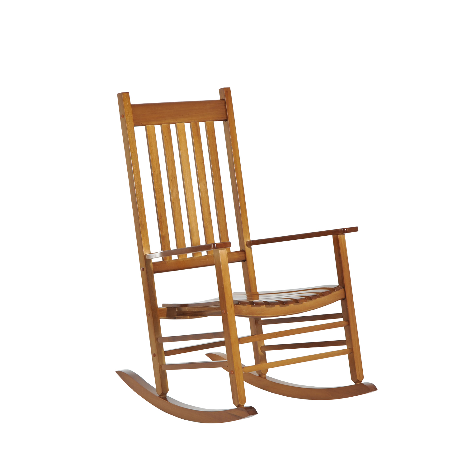 Outsunny Porch Rocking Chair   Outdoor Patio Wooden Rocking Chair (Natural)