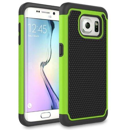 (Samsung Galaxy S7 Edge Case, SOGA [Smart Defender Series] Shockproof Hybrid Grid Armor Case for for Samsung Galaxy S7 Edge (DOES NOT FIT GALAXY S7) - Green)