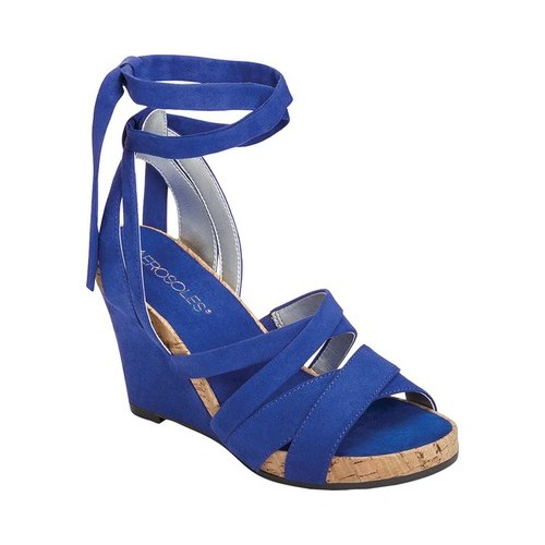 Women's Aerosoles Lilac Plush Ankle Tie Sandal by Aerosoles