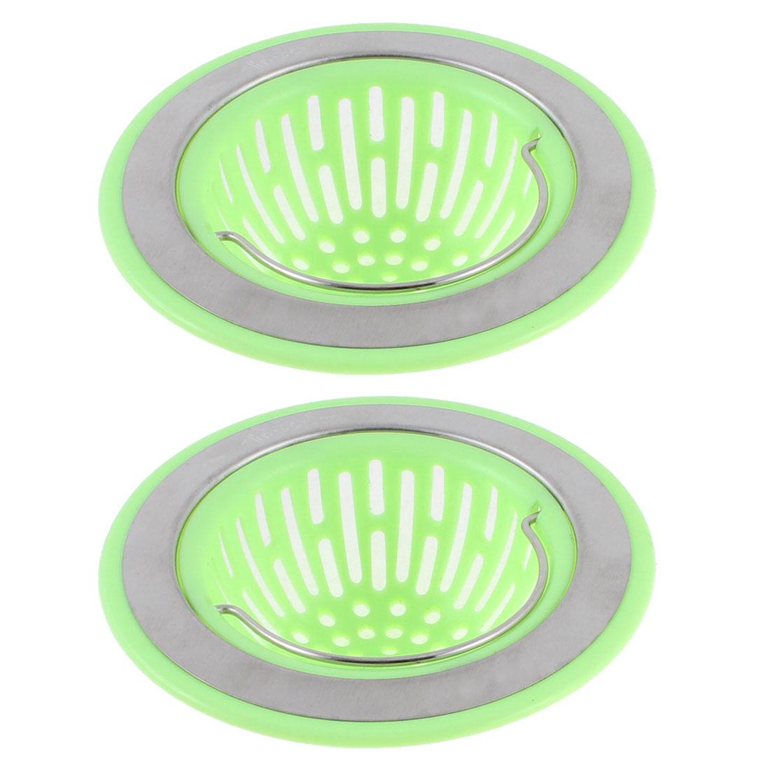 Unique Bargains Plastic Mesh Sink Strainer Waste Disposal Drain Filter Hair Catcher Stopper 2pcs for Home Essential