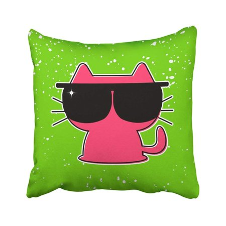 BPBOP Cat Funny Kitten in Sunglasses Glasses Baby Cute Kitty Animal Babyish Character Pillowcase 20x20 inch](Baby Anime Characters)