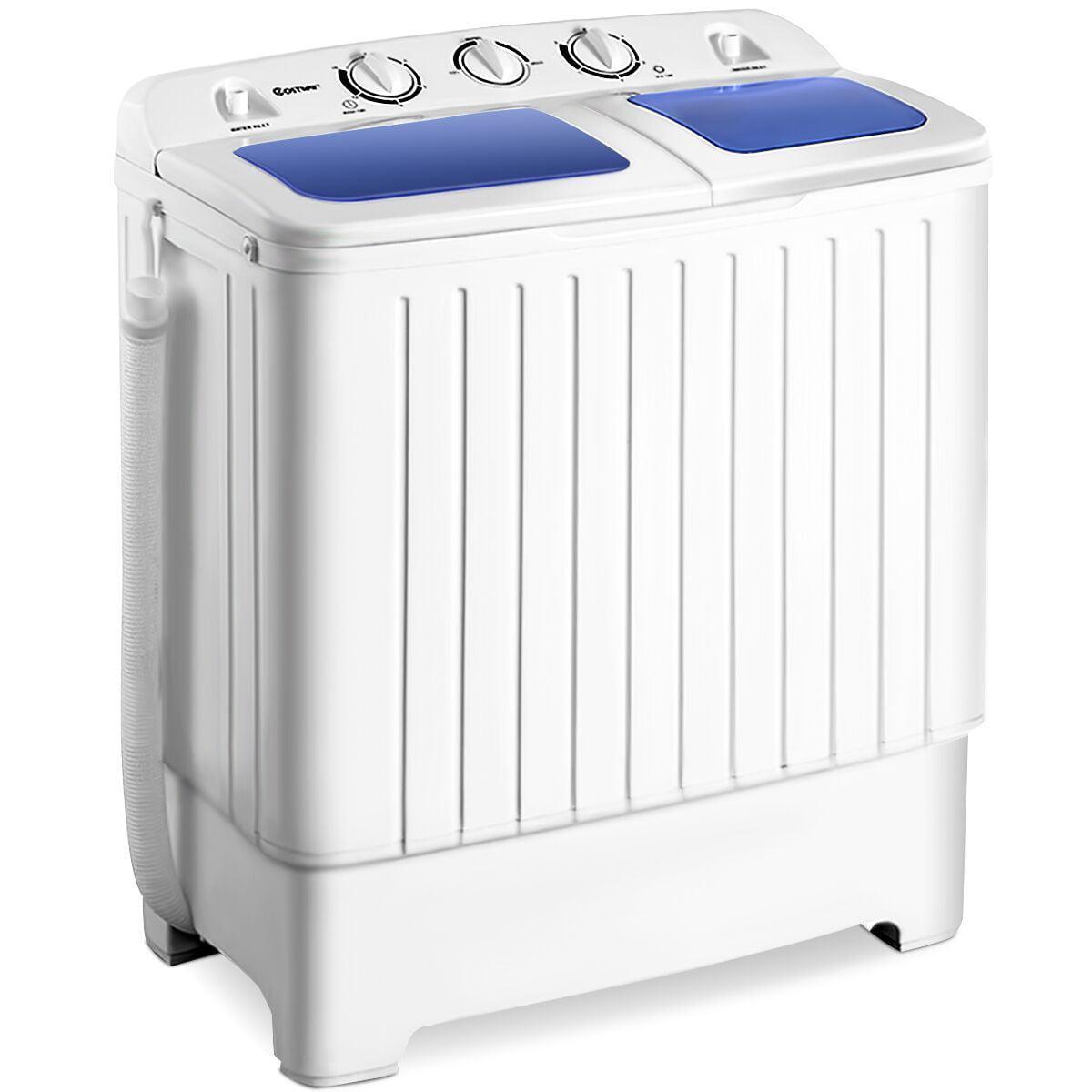 Costway Portable Mini Compact Twin Tub 17.6lb Washing Machine Washer Spin  Dryer - Walmart.com