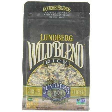 Brown Rice Blend (6 Pack : Lundberg Wild Blend, Gourmet Blend Of Wild And Whole Grain Brown Rice, Gluten Free, 16-ounce Bags)