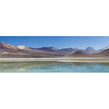 View of a salt lake in the high altiplano Laguna Blanca Potosi Department Bolivia Canvas Art - Panoramic Images (36 x