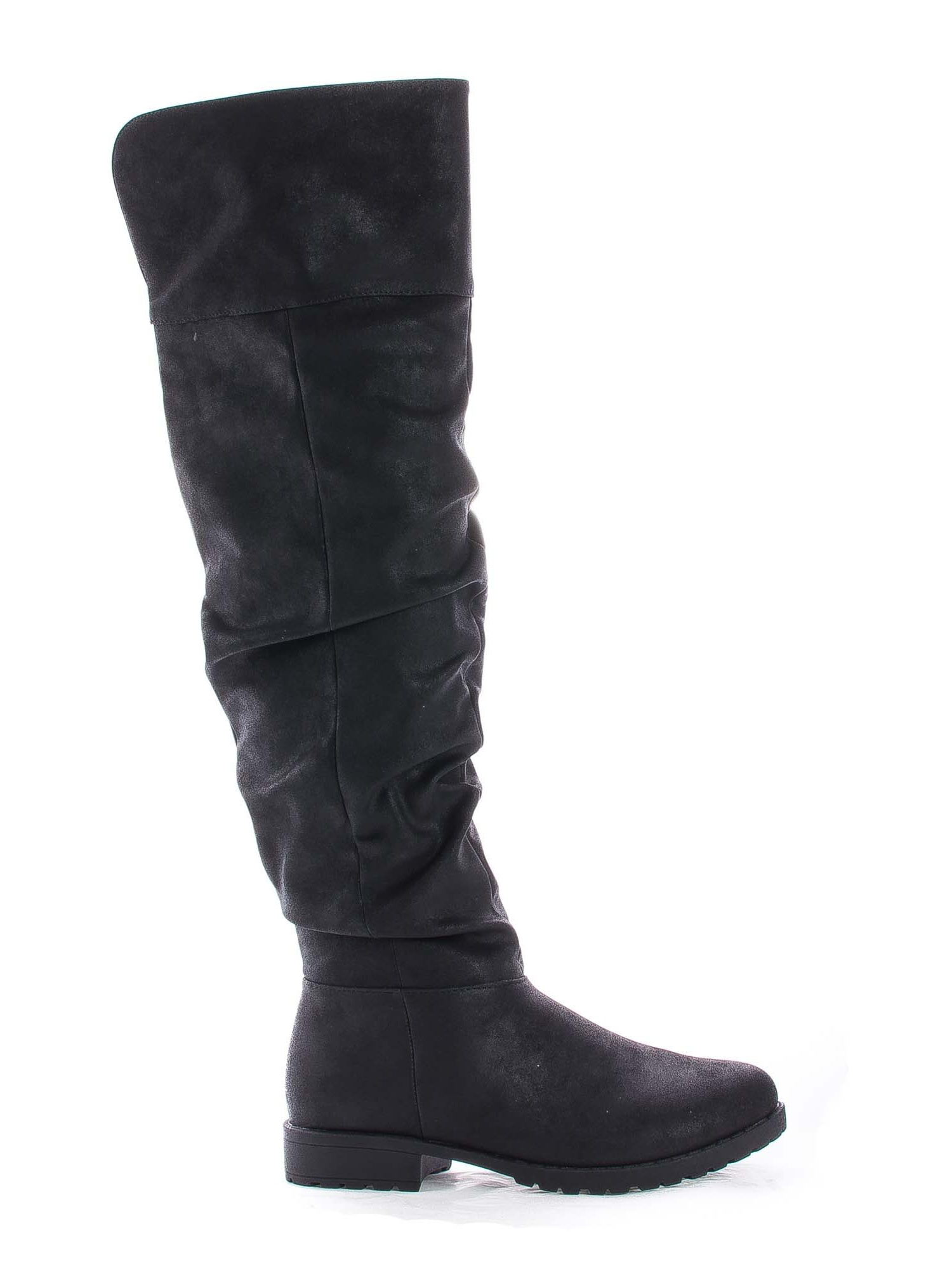 Monterey06 by Bamboo, Over The Knee Slouchy Round Toe Riding Boots