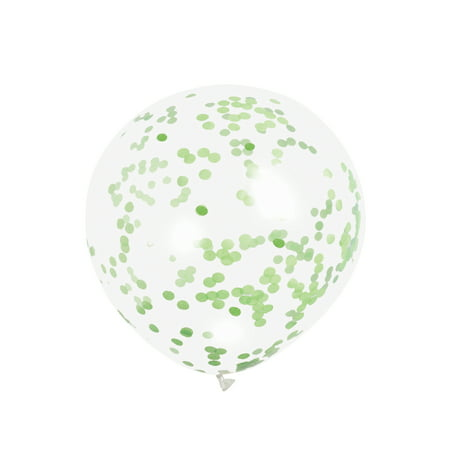 Latex Confetti Balloons, Lime Green, 12 in, 6ct, 3-Pack (18 Balloons) - Glow In Dark Balloons