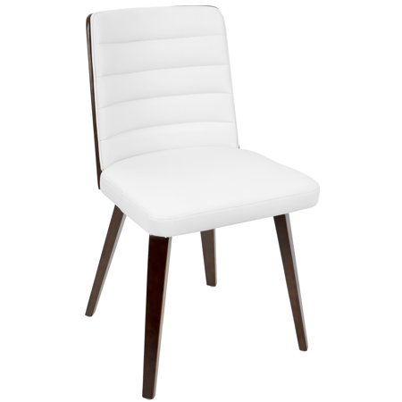 Francesca Mid Century Modern Diningaccent Chair In Cherry Wood And