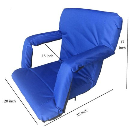 Elegantoss Back & Arm rest Padded Cushion Portable Folding Chairs for Stadium Bleachers & Benches, Floor seats for Meditation,TV,Picnic,Games