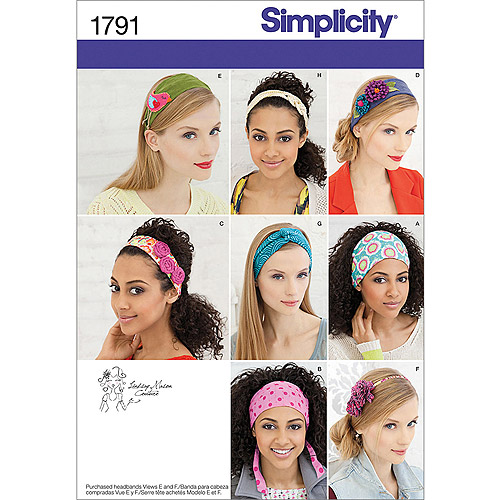 Simplicity Pattern Misses' Hair Accessories, One Size