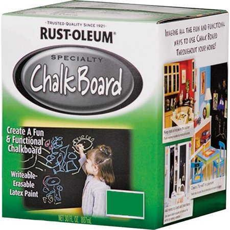 RUST-OLEUM 30oz Green Chalkboard Brush-On Latex Paint 206438 - Green Chalkboard Paint