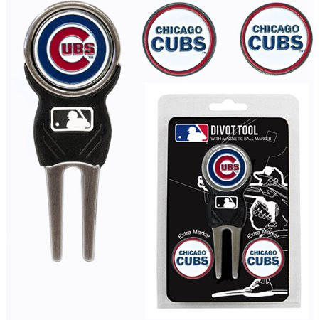 Team Golf MLB Chicago Cubs Divot Tool Pack With 3 Golf Ball