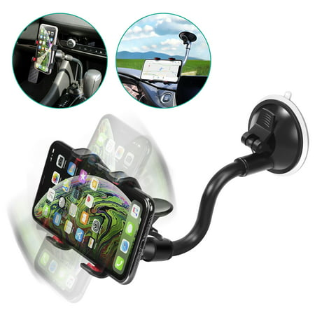 Insten Universal Car Mount Suction Phone Holder Stand for Smartphone Cell phone Mobile GPS for Samsung Galaxy S9 S9+ Plus S8 S8+ Sony Xperia XZ2 XZ Premium ZTE Zmax Pro Max XL Majesty Pro LG G6 G5