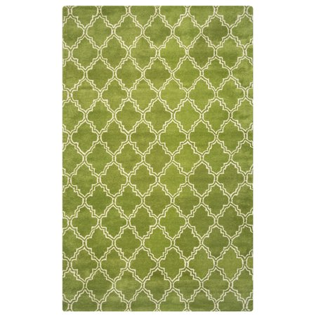 Gatney Rugs Mallorca Area Rugs - JP8745 Contemporary Lime Green Tufted Diamonds Curves Wool Rug ()