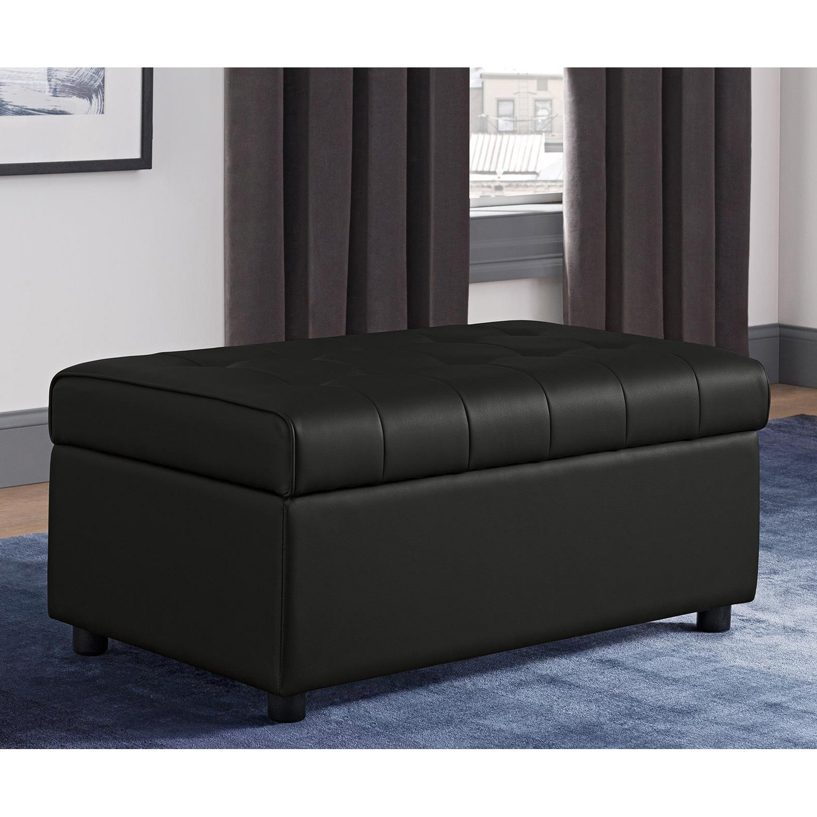 DHP Emily Rectangular Storage Ottoman, Multiple Colors