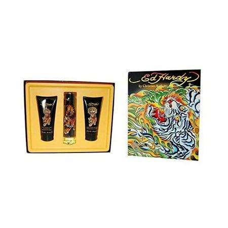 CHRISTIAN AUDIGIER Wild Tiger 1.7 EDT Cologne+ 3.0 shampoo+ lotion Mens Set NIB ()